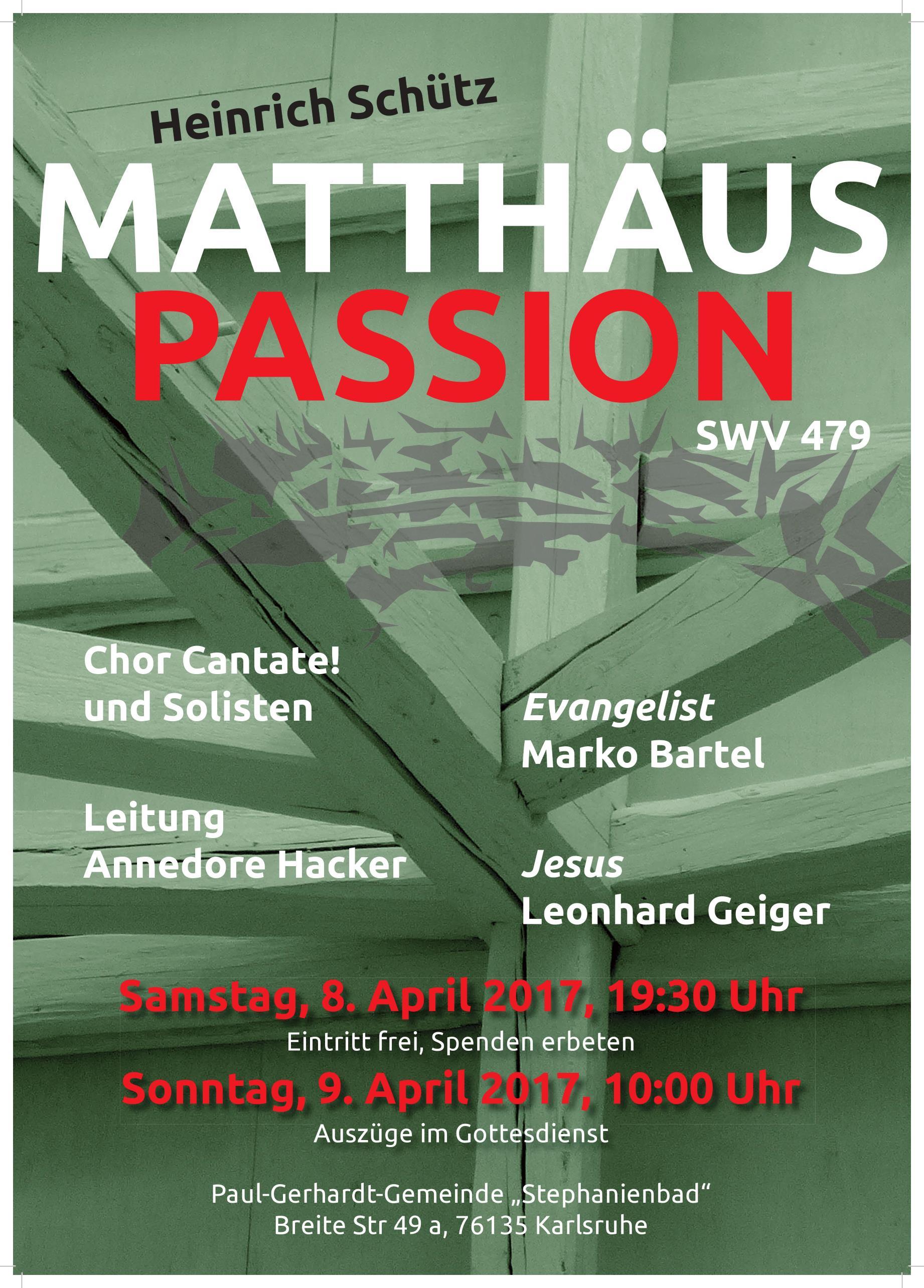 Plakat Matthäus Passion